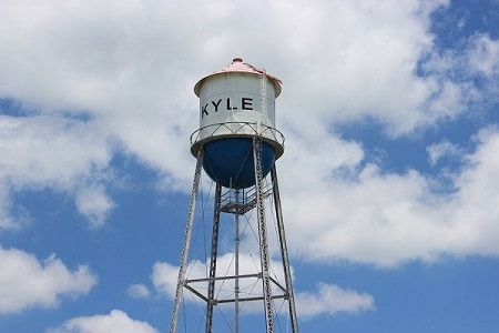 The water tower in Kyle, Texas. Benevida Health and Wellness center proudly serves the residents of the Kyle, Texas area.